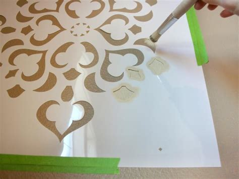 Porte Shoing 616 by How To Stencil A Focal Wall Hgtv