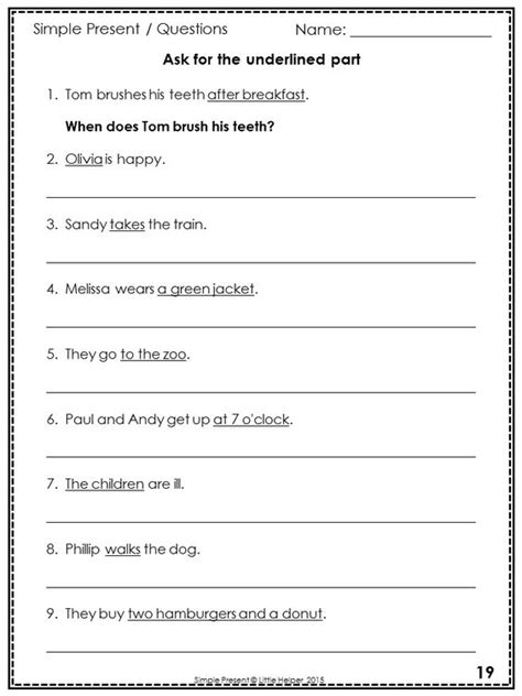 pattern present simple common worksheets 187 sentence patterns worksheets with