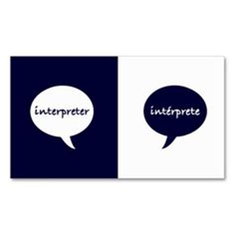 interpreter business card templates 1000 images about interpreter business cards on