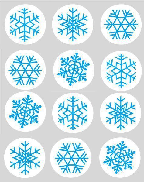 printable snowflake template for cupcakes edible sugar snowflakes snowflake blue cupcake toppers