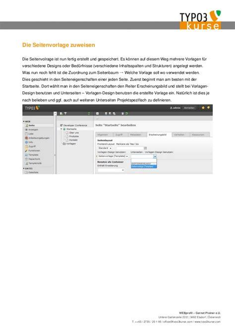 Typo3 Vorlagen Design Benutzen eine website in einer stunde mit typo3 bauen