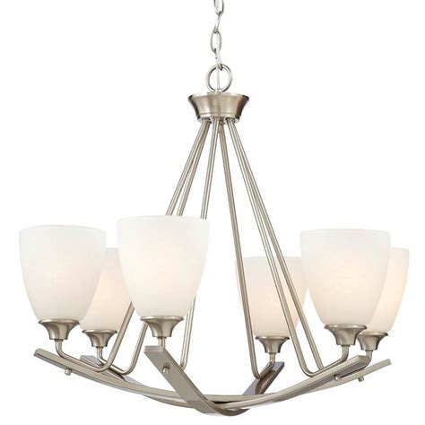 home decorators lighting home decorators collection 6 light brushed nickel