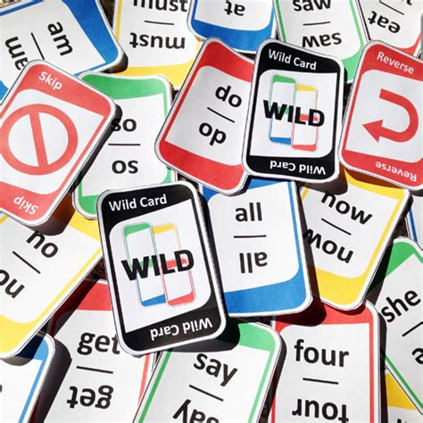 printable uno cards games sight words game cards quot one quot plays like quot uno quot