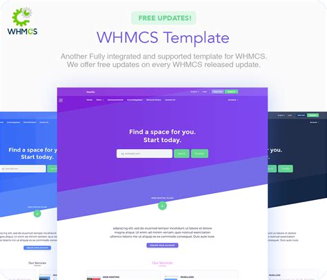 hostify hosting html whmcs template
