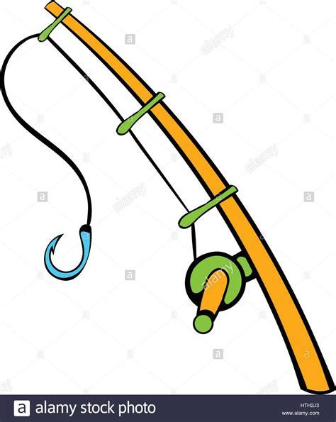 rod clipart fishing rod icon icon stock vector