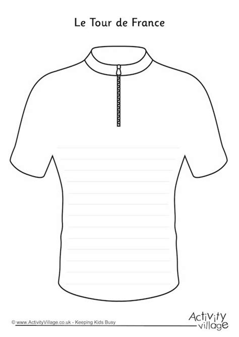 Concert T Shirt Template Tour De France Jersey Writing Frame