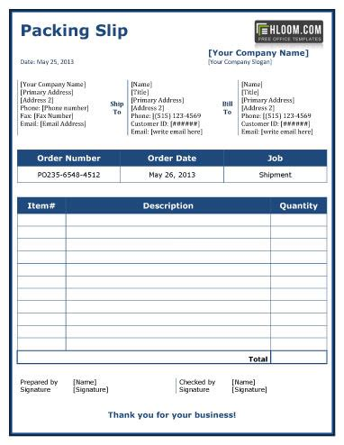 packing list template free excel templates