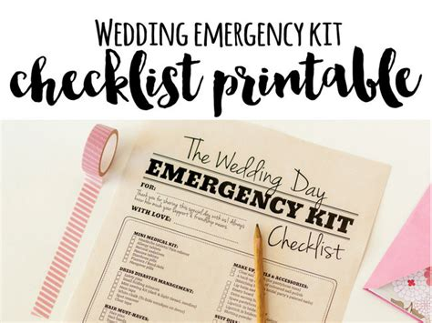 Wedding Planner Kit Free by Wedding Day Emergency Kit Checklist Free Printable