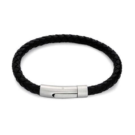 bling jewelry mens braided black leather bracelet
