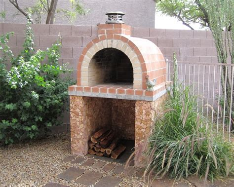 brick oven backyard the louis family diy wood fired brick pizza oven in ca by