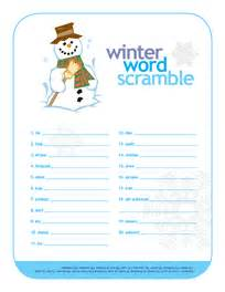printable january word games 8 best images of winter word scramble printable free