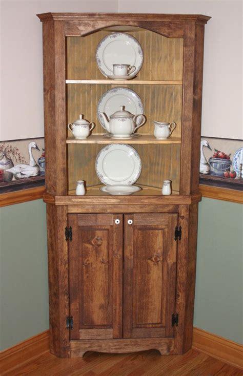 rustic corner china cabinet hutch curio corner rustic primitive china cabinet