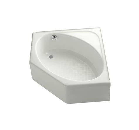 cast iron corner bathtub kohler k 821 96 biscuit mayflower collection 48 quot corner cast iron soaking bath tub