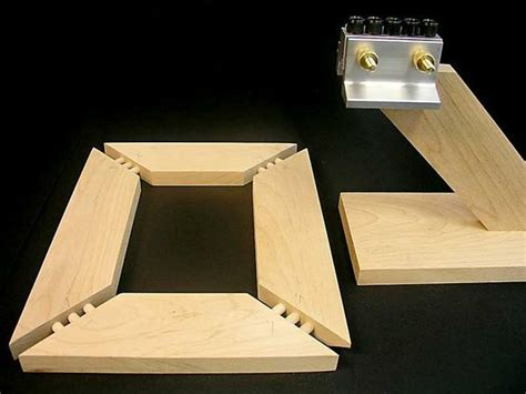 picture shows     multiple dowel woodworking