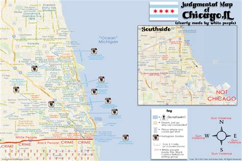 chicago judgemental map judgmental maps chicago il by eric oren and katey selix