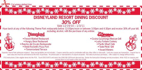 disney parks offers holiday season dining vouchers to save disney parks offers holiday season dining vouchers to save