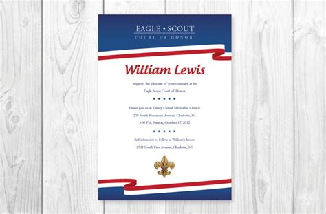 eagle scout invitation template free printable eagle scout court of honor invitation