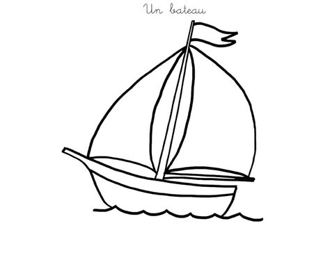 dessin bateau colorier coloriage bateau vendee globe