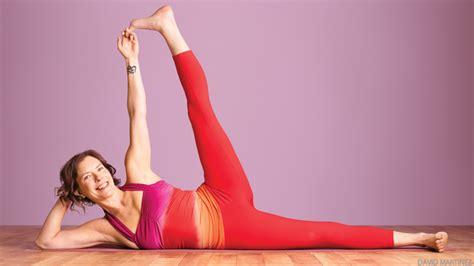 side reclining leg lift side reclining leg lift anantasana yoga journal