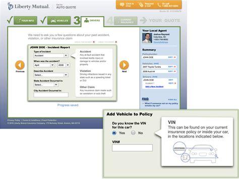 liberty mutual auto insurance quote redesign daniel