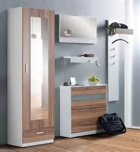 garderobe set garderoben set nando 5 tlg nussbaum wei 223 paneel spiegel