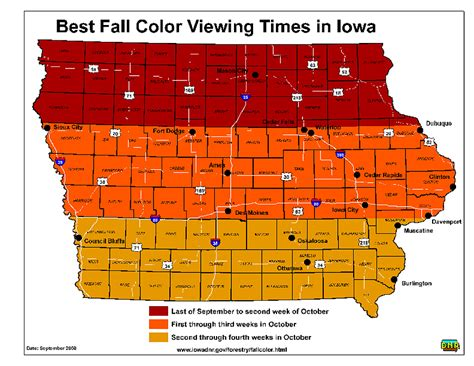 of iowa colors this is when you ll see the best fall colors in iowa
