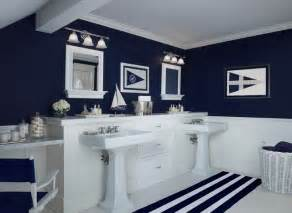 Navy Blue And White Bathroom » Modern Home Design