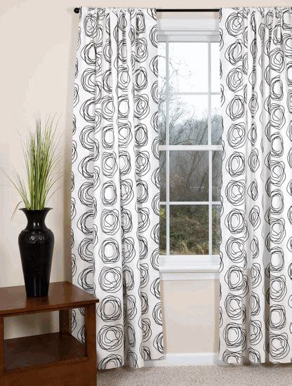 black and white drapery panels peak of interior designing black and white curtains