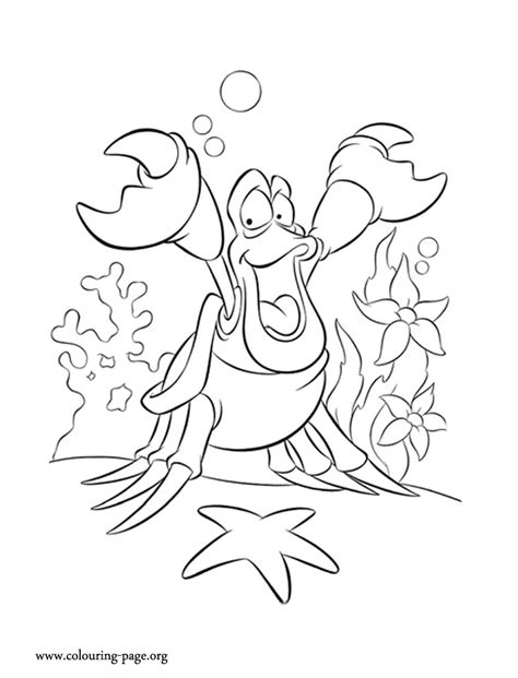 free sebastian little mermaid coloring pages