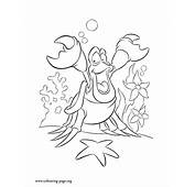 The Little Mermaid  Sebastian Crab Coloring Page