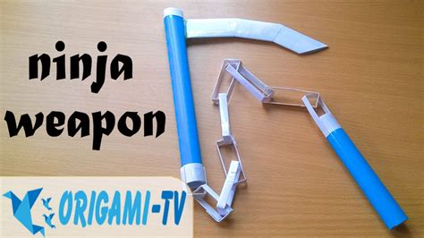Paper Weapons How To Make - how to make a paper weapon kusari gama
