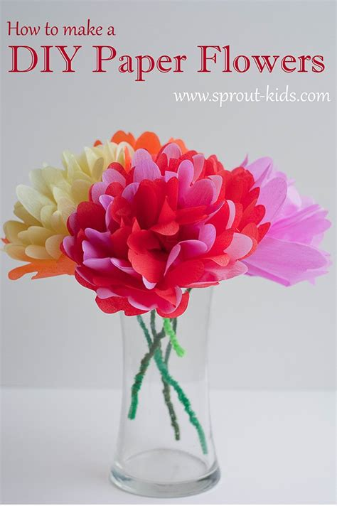 How To Make Paper At Home Easy - diy paper flowers and easy crafts for diy home