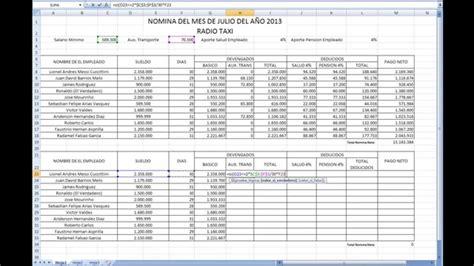 ejemplo de nomina en excel 2013 colombia ejemplo de nomina en excel 2013 colombia