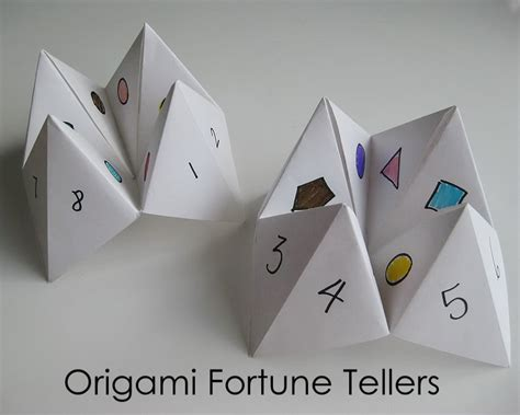 Folding Paper Fortune Tellers - my handmade home tutorial origami fortune teller