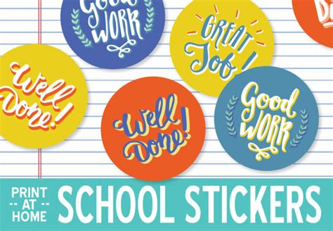 printable encouragement stickers items similar to printable school stickers