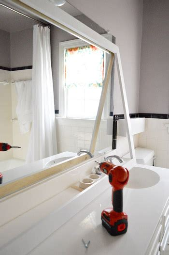 how to build a frame around a bathroom mirror how to build a wood frame around a bathroom mirror young