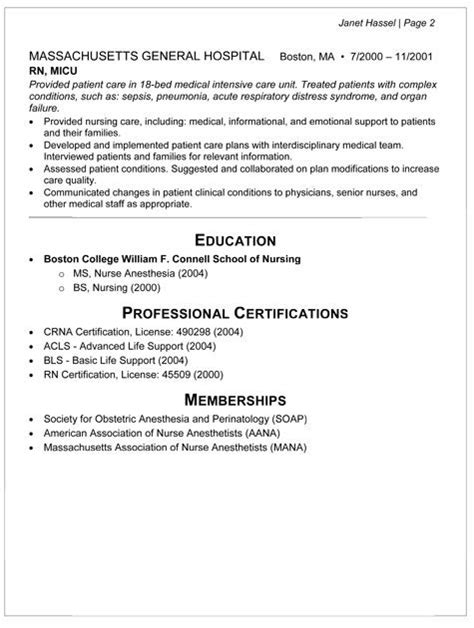 Anesthetist Resume Template by Anesthetist Resume Resume Ideas