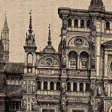 prink pavia antique prints print of pavia italy certosa di pavia