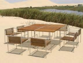 modern metal outdoor furniture modern outdoor furniture from beltempo wood and metal