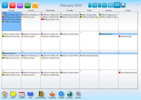 make family calendar family organizer calendar planner software kitchenhub