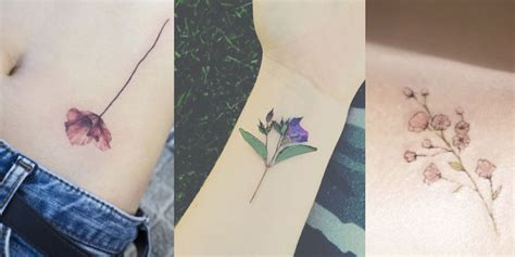 delicate tattoo 14 delicate flower tattoos flower ideas inspiration