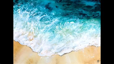 how to color water water in watercolors painting tutorial