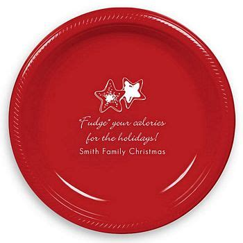 design your own personalized plastic christmas dessert plates