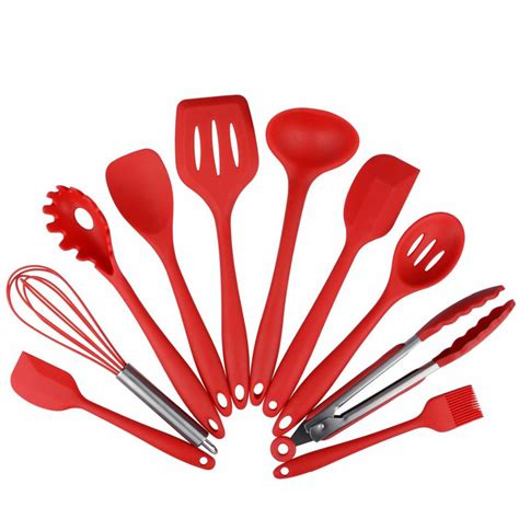 Silicone Kitchen Utensils 10 Piece Cooking Utensil Set Silicone Kitchen Utensils Set