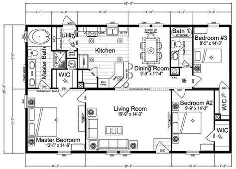 3 bedroom double wide floor plans 3 bedroom mobile home floor plan go back gt gallery