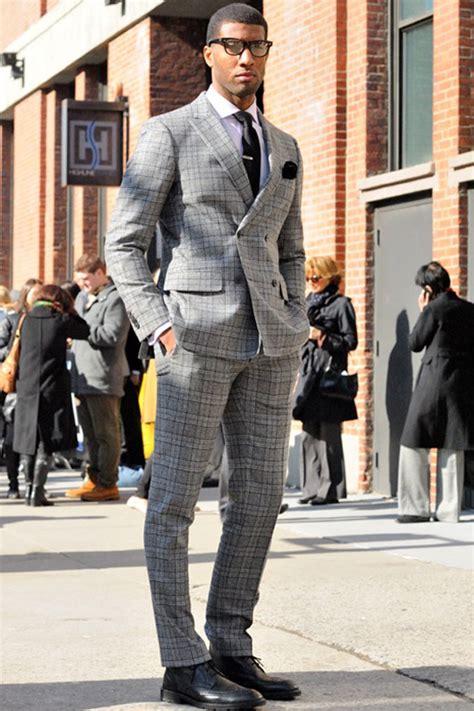 smart menswear pattern peak lapel suit wingtip brogues