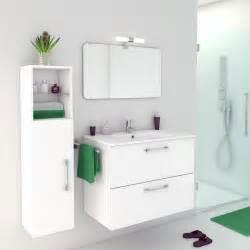 meuble de salle de bains de 80 224 99 blanc beige