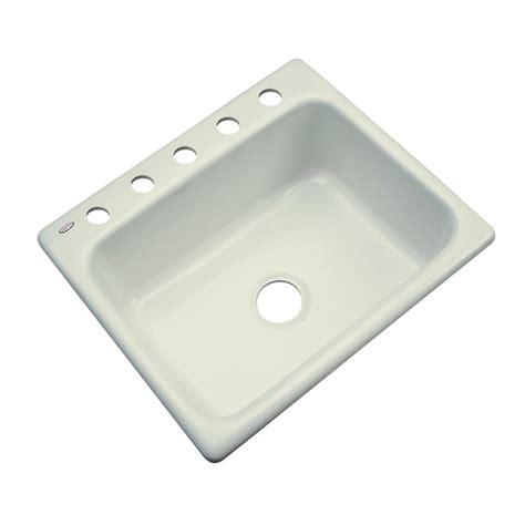 Acrylic Kitchen Sinks Shop Dekor Master Single Basin Drop In Acrylic Kitchen Sink At Lowes