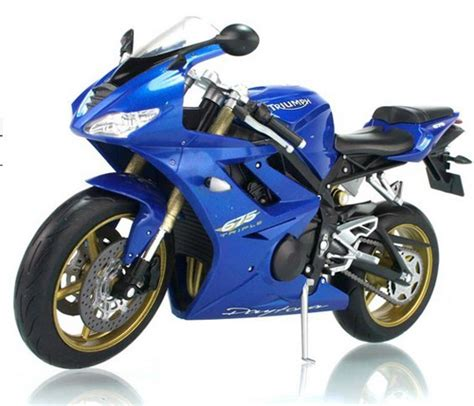 1:10 Scale Blue /Red Kids Diecast TRIUMPH Daytona 675