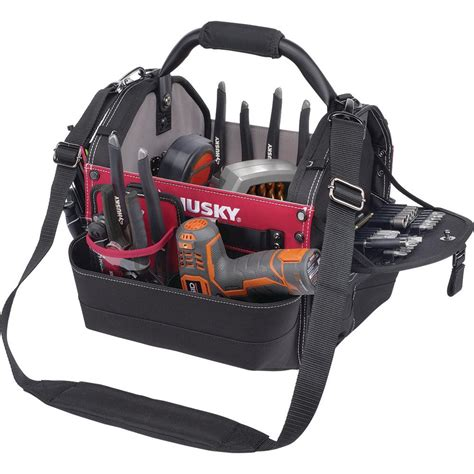 husky 14 in rolling tool tote with bonus bag